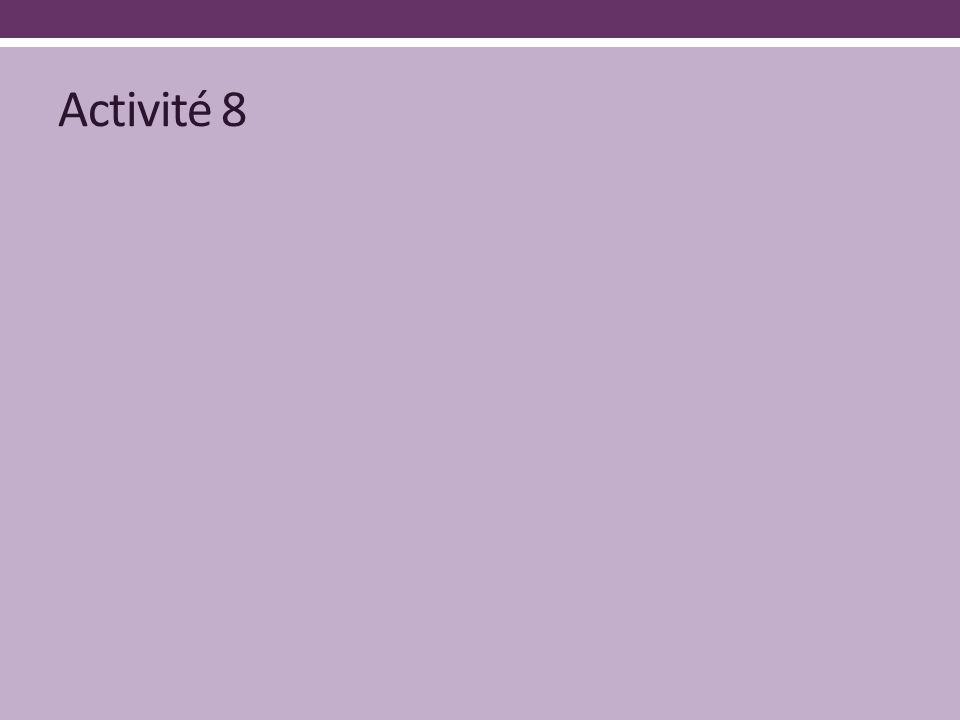 Activité 8