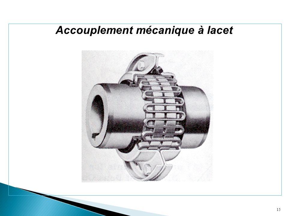 15 Accouplement mécanique à lacet