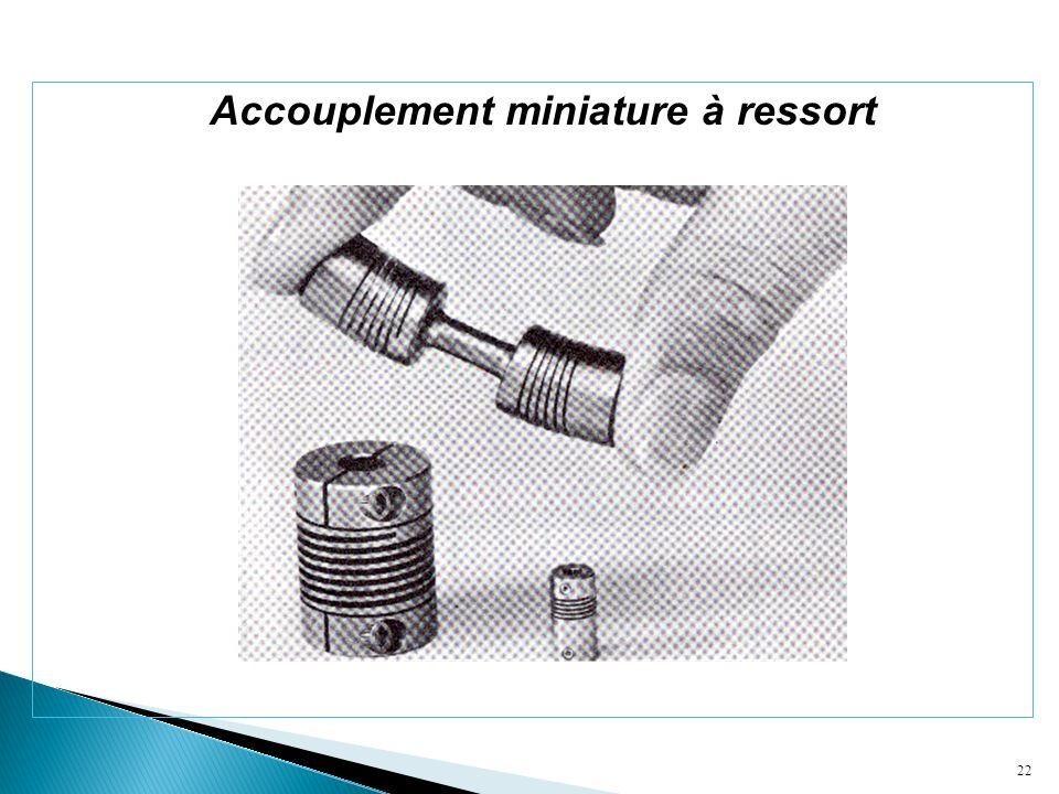 22 Accouplement miniature à ressort
