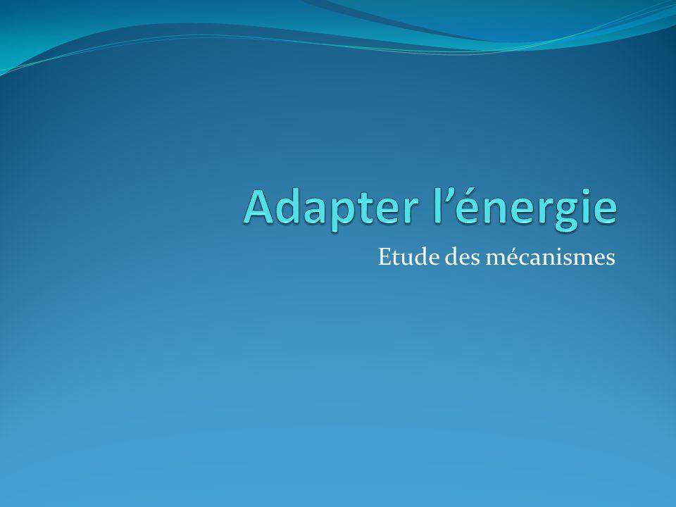 Transmettre une puissance Deux fonctions: Adapter l'énergie Transformer le mouvement Critères d'évaluations des performances Rendement Réversibilité Précision