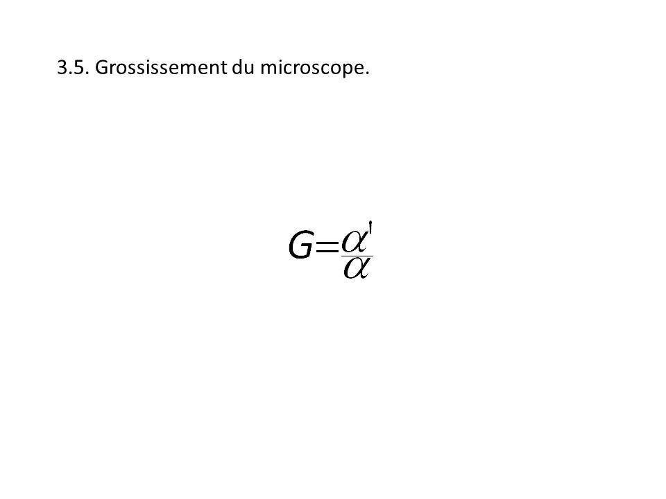 3.5. Grossissement du microscope.