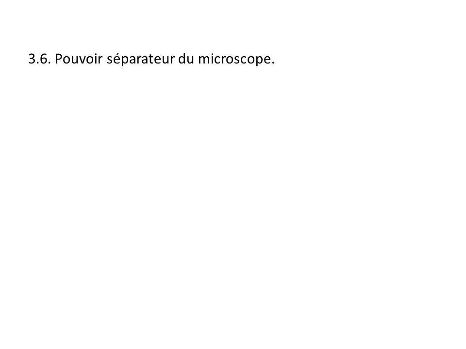 3.6. Pouvoir séparateur du microscope.