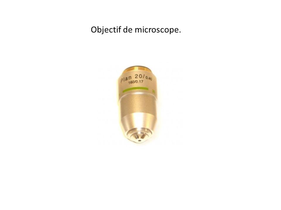 Objectif de microscope.