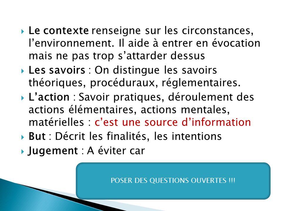  Le contexte renseigne sur les circonstances, l'environnement.