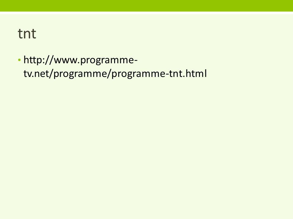 www programme tv net tnt