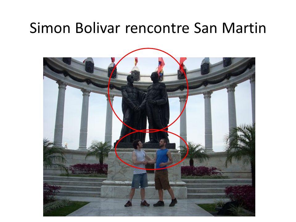 Simon Bolivar rencontre San Martin