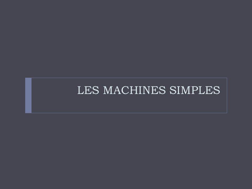 Qu'est-ce qu'une machine?  Définition?  Exemples?