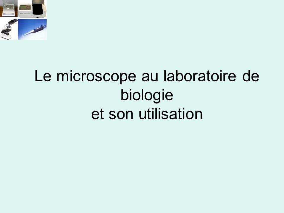 Le microscope au laboratoire de biologie et son utilisation