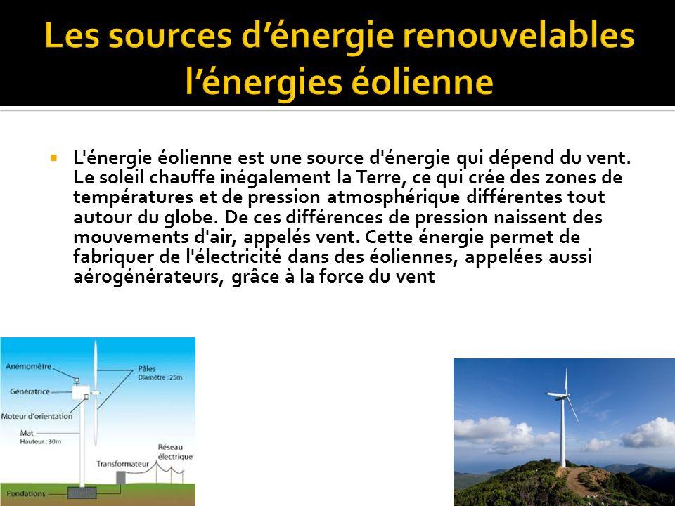 L énergie solaire est une source d énergie qui dépend du soleil.