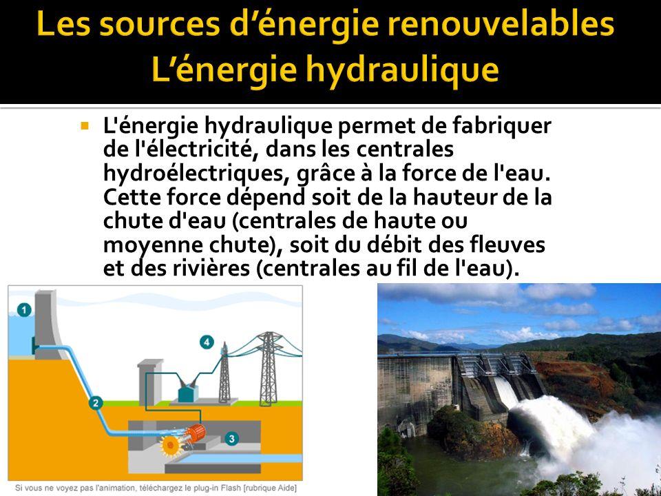  L énergie éolienne est une source d énergie qui dépend du vent.
