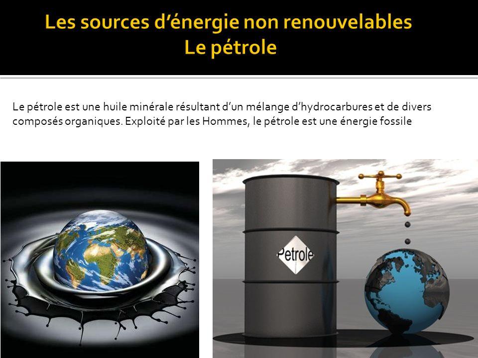  - Le pétrole  - Le gaz naturel  -Le charbon  -L'énergie fissile ou nucléaire