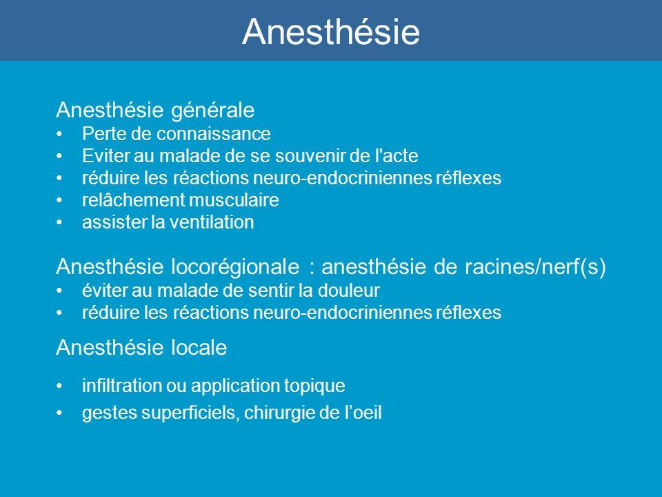 réaction anesthésie générale