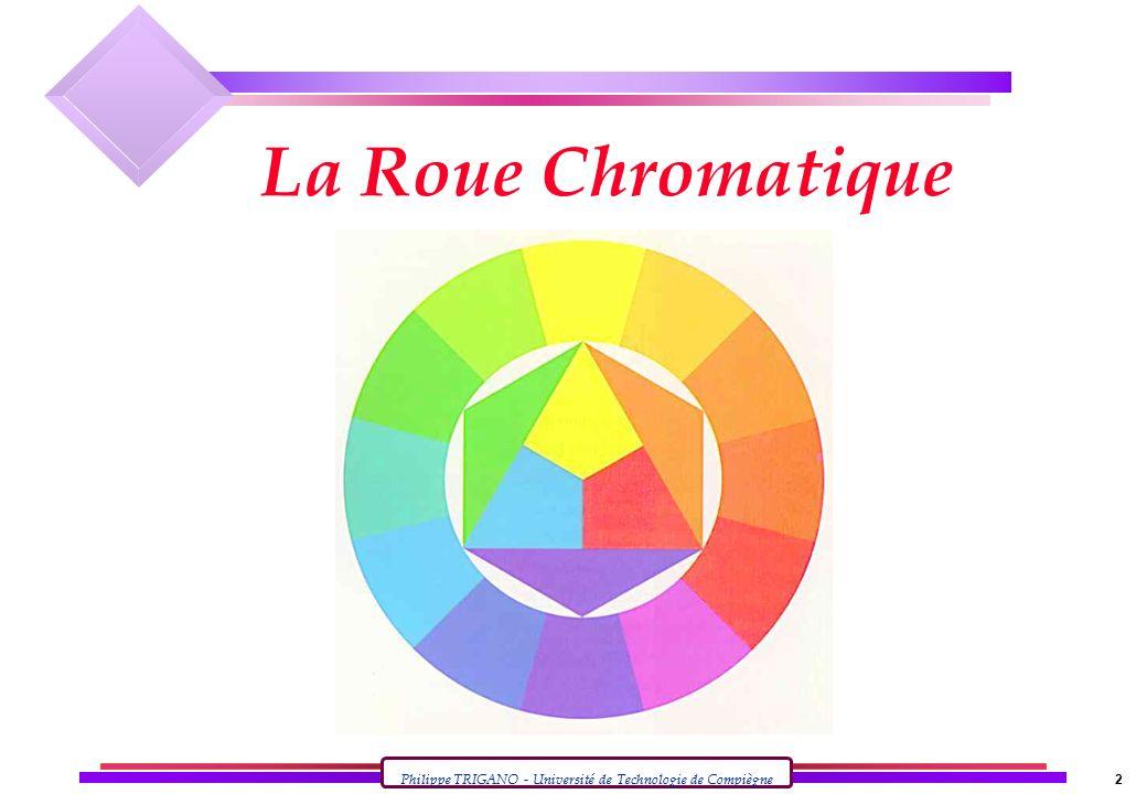 Philippe TRIGANO - Université de Technologie de Compiègne 2 La Roue Chromatique