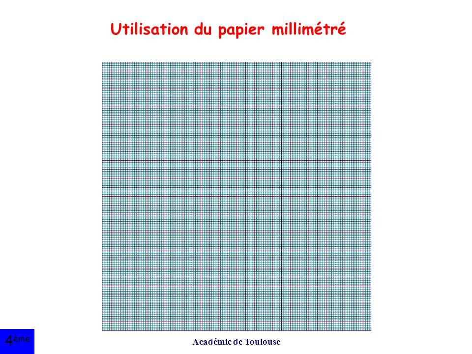 Académie de Toulouse Utilisation du papier millimétré 4 ème