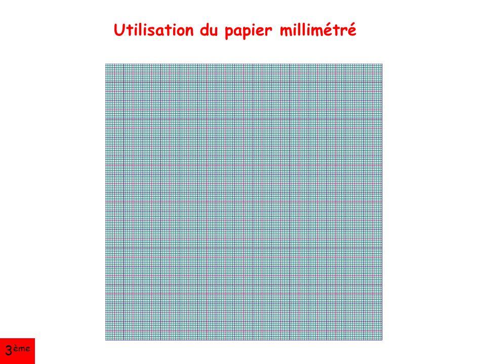 Utilisation du papier millimétré 3 ème