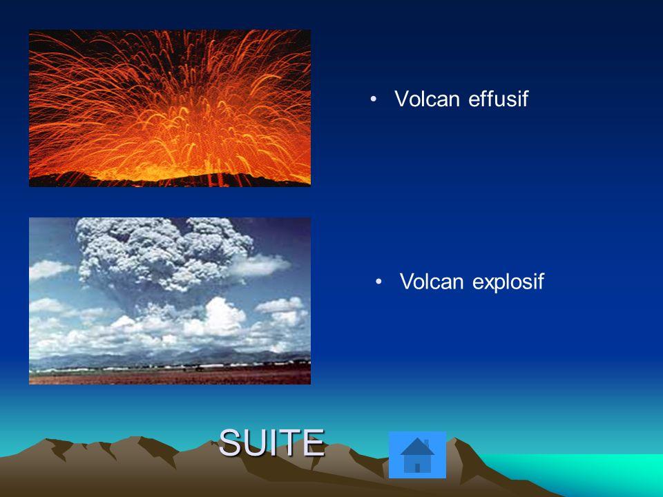 SUITE Volcan effusif Volcan explosif