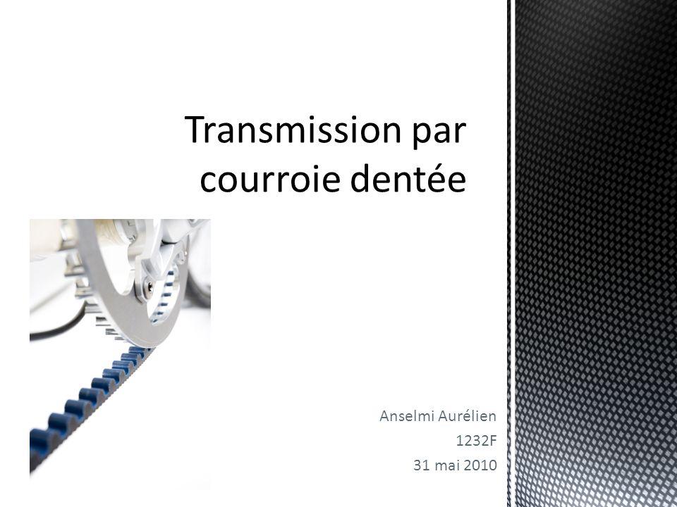 12 Transmission par courroie dentée CONCLUSION Utilisation de plus en plus fréquente d'élastomère ou produit synthétique afin de remplacer le métallique Grande utilité dans l'industrie automobile pour entraîner la distribution des moteurs à combustion interne.