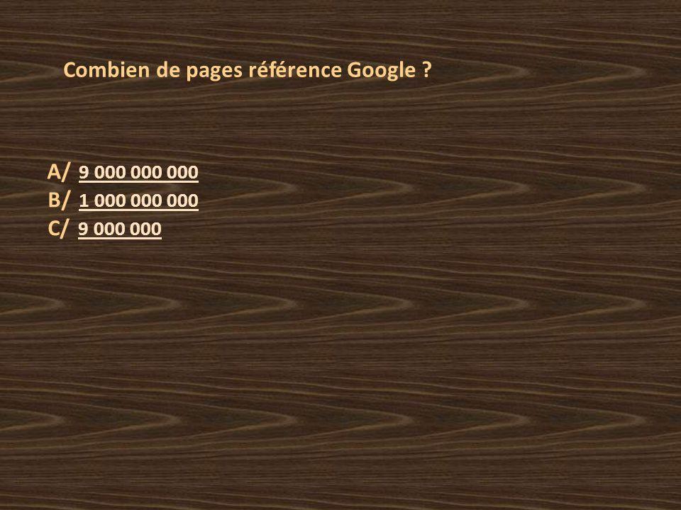Combien de pages référence Google .