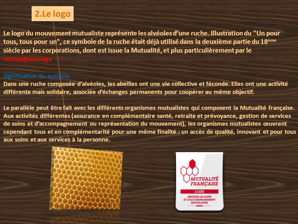 Le logo du mouvement mutualiste représente les alvéoles d'une ruche.