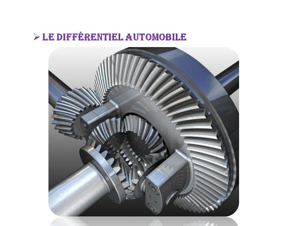 Un différentiel est un système mécanique qui a pour fonction de distribuer une vitesse de rotation par répartition de l effort, de façon adaptative, immédiate et automatique, aux besoins d un ensemble mécanique1.