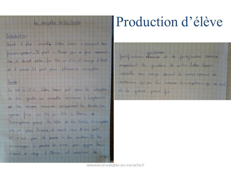 Production d'élève