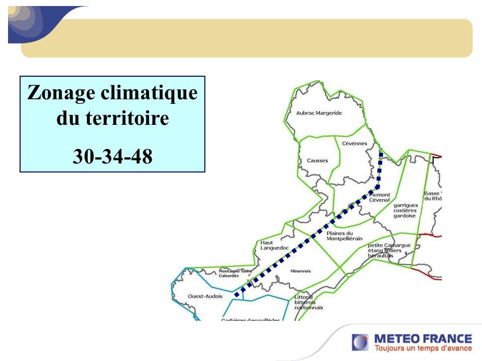 Zonage climatique du territoire 30-34-48