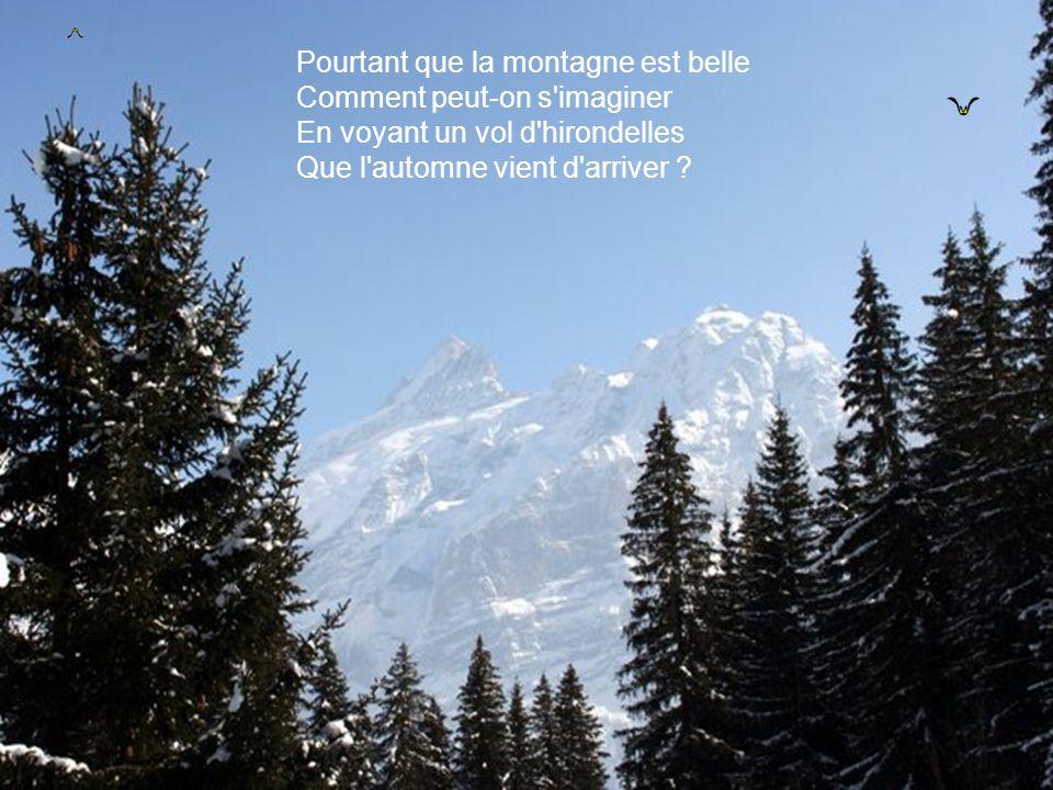 parole chanson que la montagne est belle