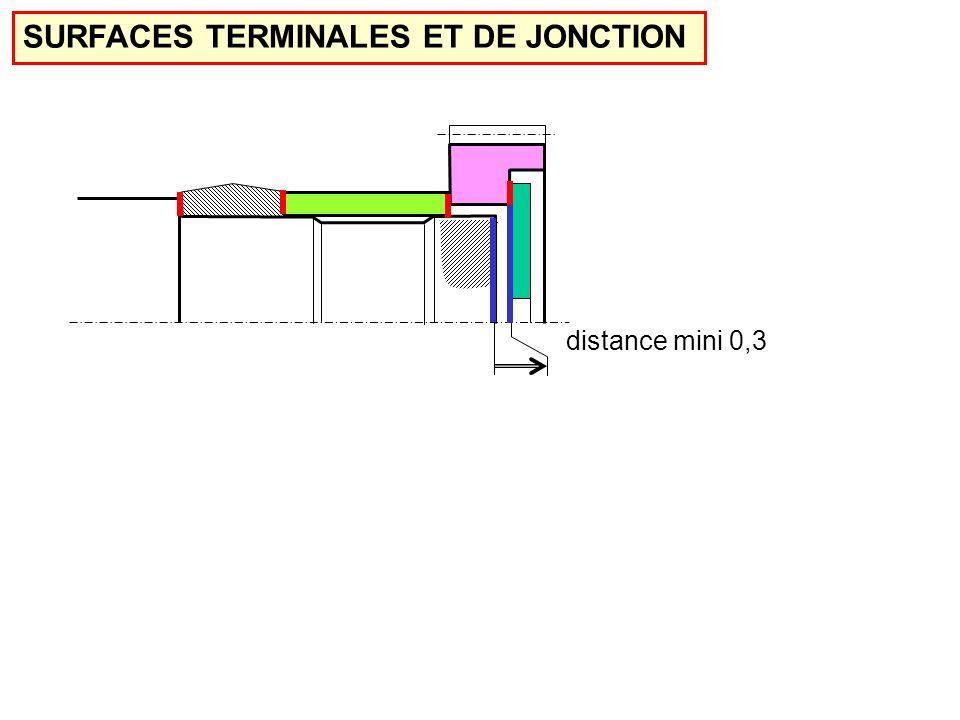 SURFACES TERMINALES ET DE JONCTION distance mini 0,3
