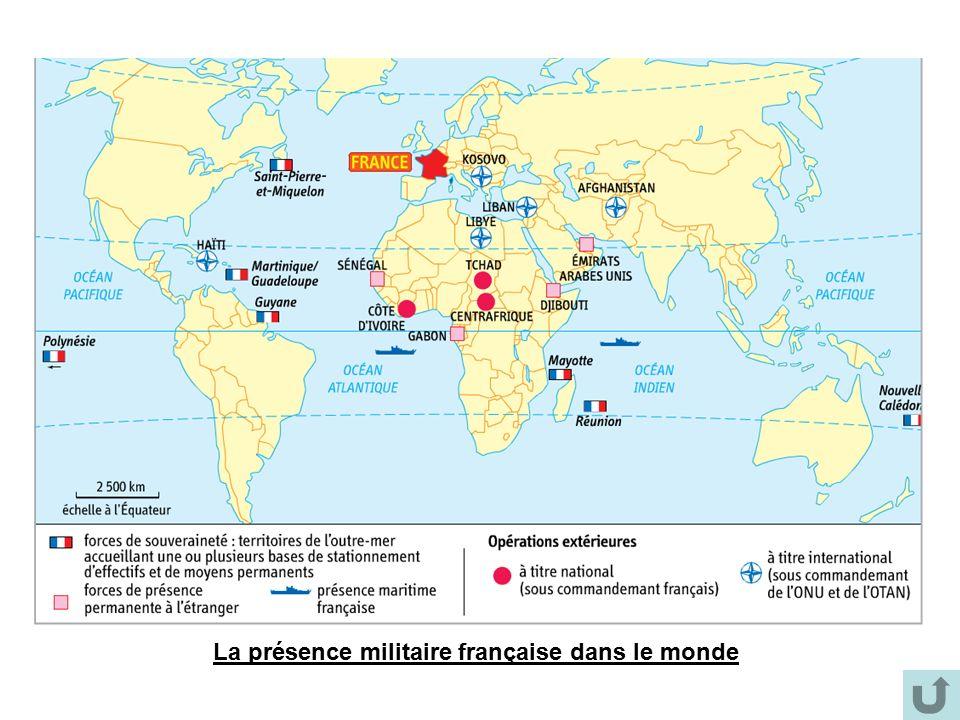 La présence militaire française dans le monde