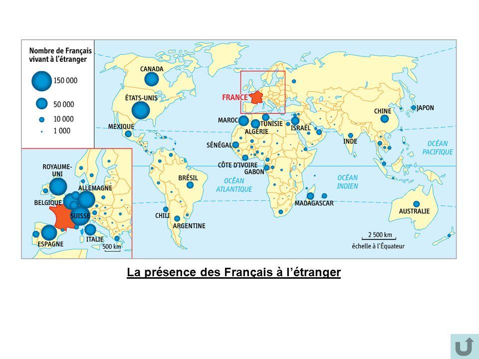 La présence des Français à l'étranger