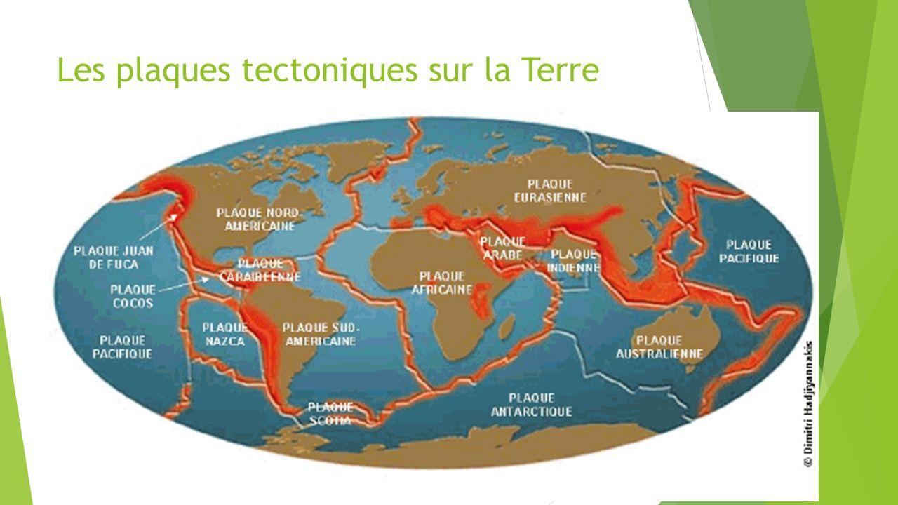 Les plaques tectoniques sur la Terre