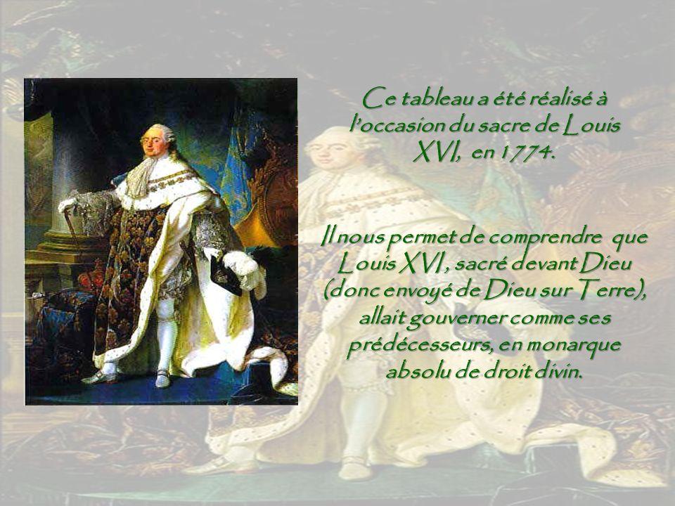 Ce tableau a été réalisé à l'occasion du sacre de Louis XVI, en 1774.