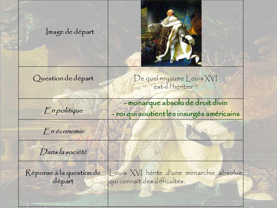 Image de départ Question de départDe quel royaume Louis XVI est-il l'héritier .
