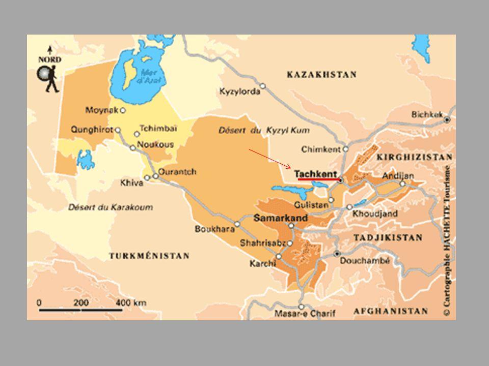 Tachkent- la capitale de l'Ouzbékistan, est peuplée de 2,3 millions d'habitants.