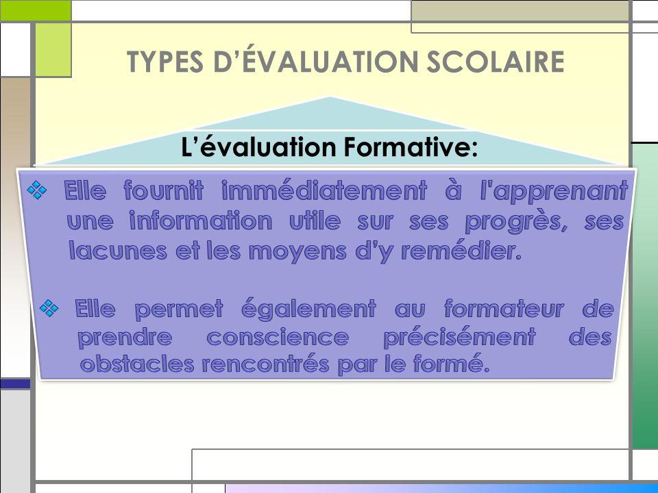 L'évaluation Formative: