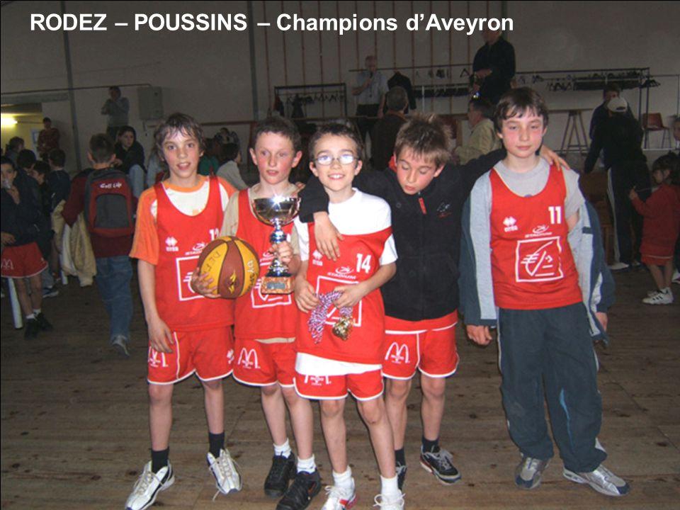 RODEZ – POUSSINS – Champions dAveyron