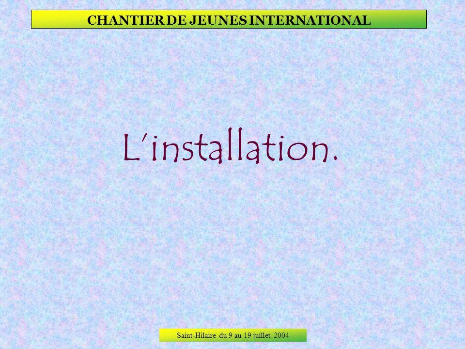 Saint-Hilaire du 9 au 19 juillet 2004 CHANTIER DE JEUNES INTERNATIONAL No comment !