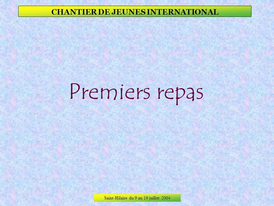 Saint-Hilaire du 9 au 19 juillet 2004 CHANTIER DE JEUNES INTERNATIONAL Leurs décorations. Les artistes sont fières de leur travail, même si les pétale