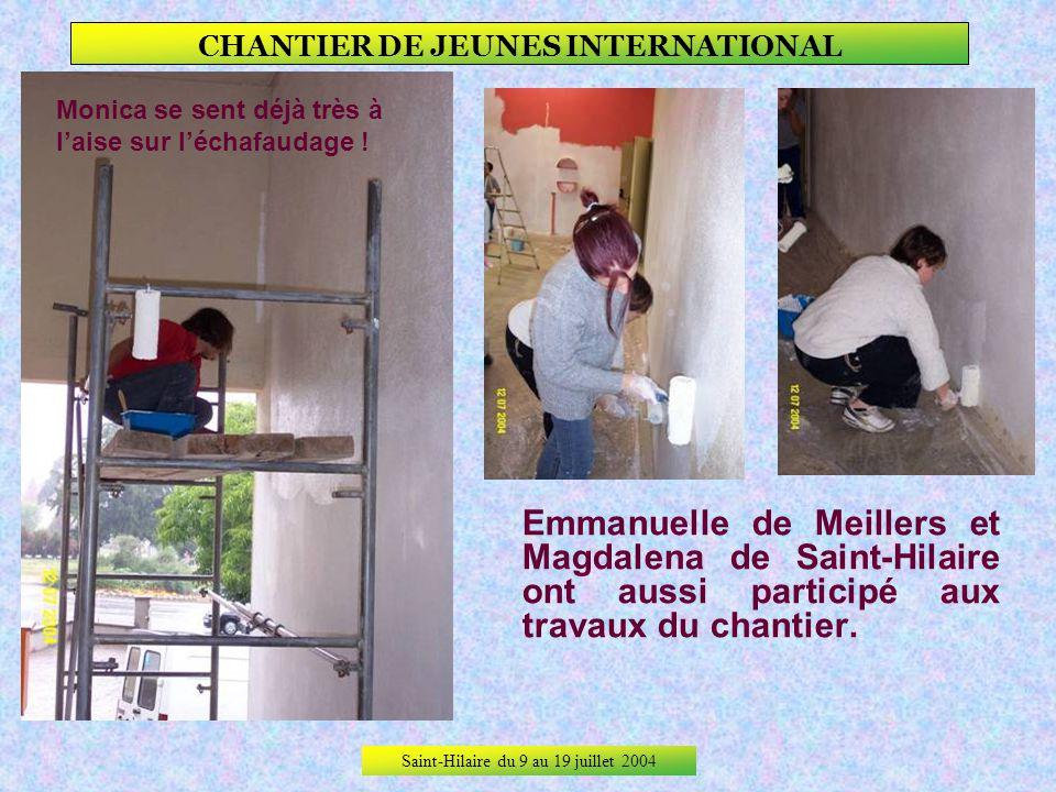 Saint-Hilaire du 9 au 19 juillet 2004 CHANTIER DE JEUNES INTERNATIONAL On travaille côté coréen, on prend le temps de poser pour la photo côté russe,