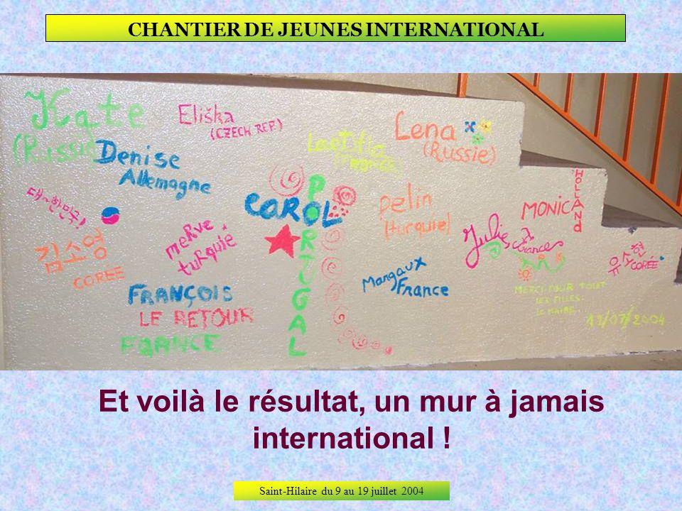 Saint-Hilaire du 9 au 19 juillet 2004 CHANTIER DE JEUNES INTERNATIONAL Toutes, même So-young !
