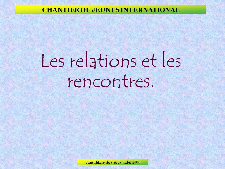 Saint-Hilaire du 9 au 19 juillet 2004 CHANTIER DE JEUNES INTERNATIONAL Et voilà le résultat, un mur à jamais international !
