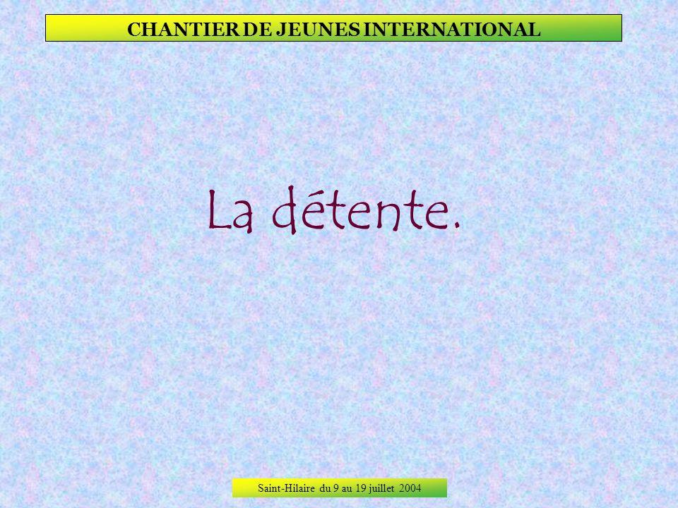 Saint-Hilaire du 9 au 19 juillet 2004 CHANTIER DE JEUNES INTERNATIONAL Ici, la rencontre surprenante pour So-young dun jeune homme qui enterrait sa vi