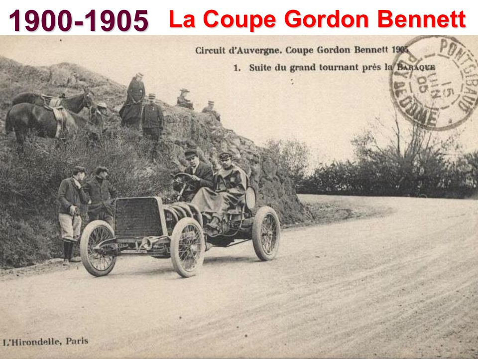 1900-1905 La Coupe Gordon Bennett
