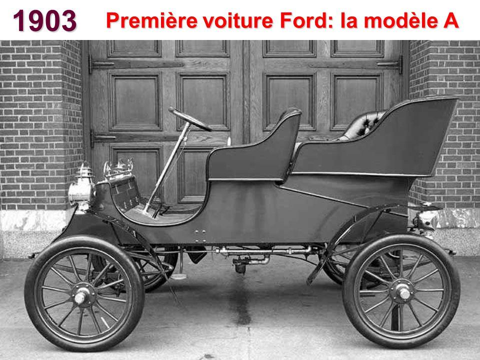 1903 Première voiture Ford: la modèle A