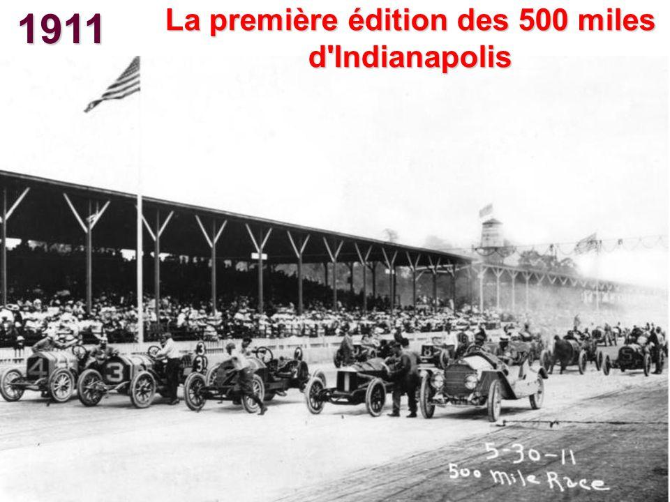 1911 La première édition des 500 miles d'Indianapolis
