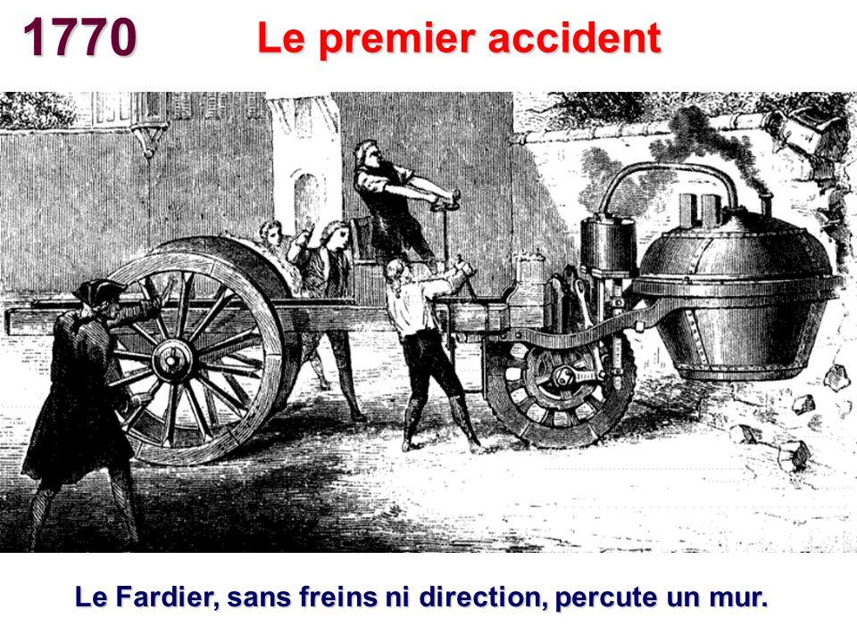 1899 La Jamais Contente (Voiture électrique) Premier record au-dessus de 100 km/h Camille Jenatzy atteint 105,88 km/h