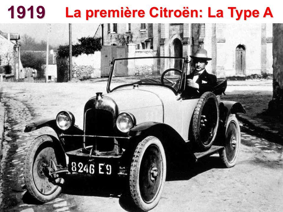1919 La première Citroën: La Type A