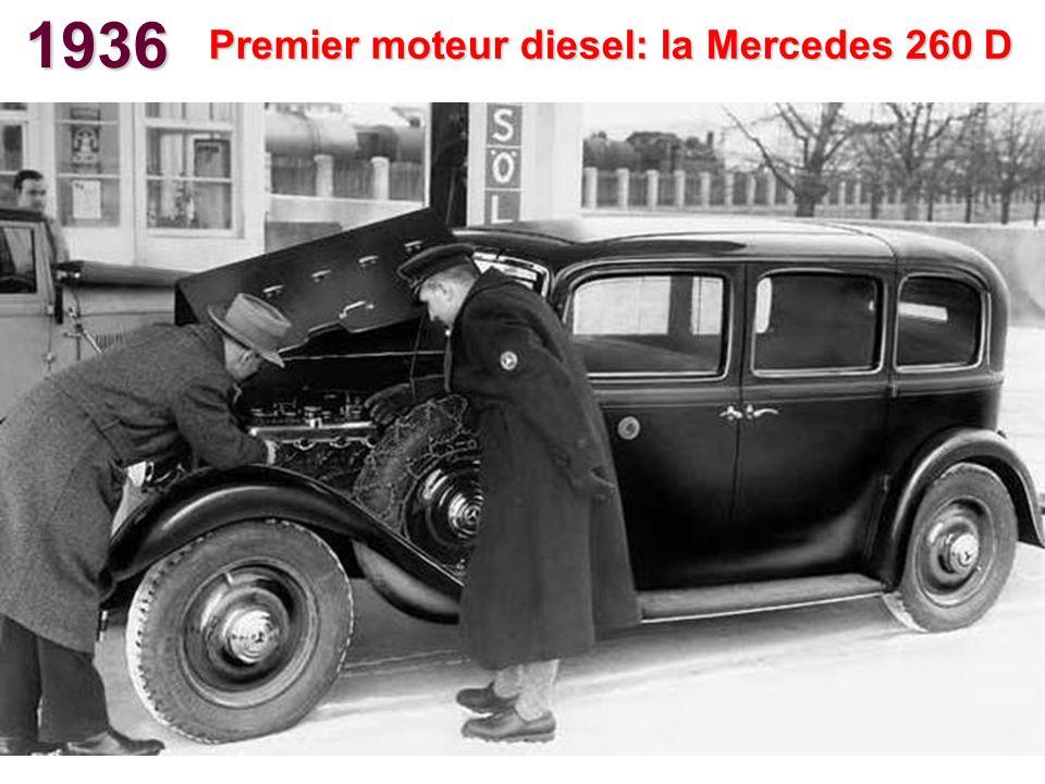 1936 Premier moteur diesel: la Mercedes 260 D