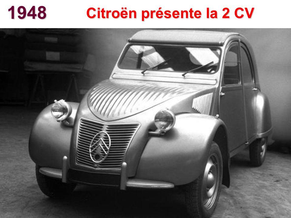 1948 Citroën présente la 2 CV