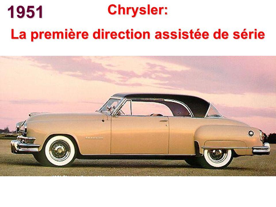 1951 Chrysler: La première direction assistée de série